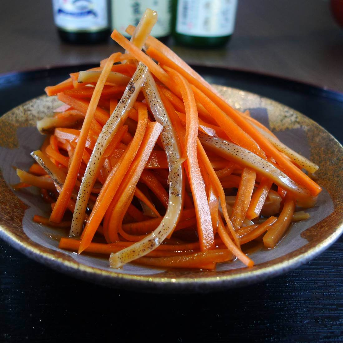 Ika-ninjin<br />(Seasoned sliced dried squids and carrots)