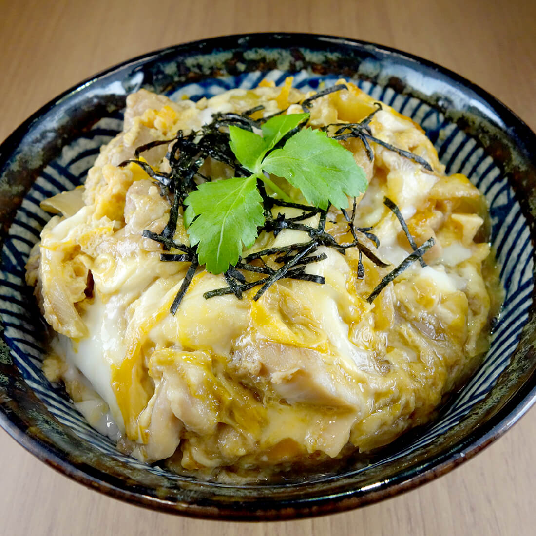 Oyako don<br />(Chicken and egg over rice)