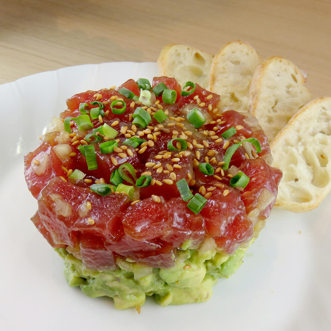 Tartare of tuna and avocado